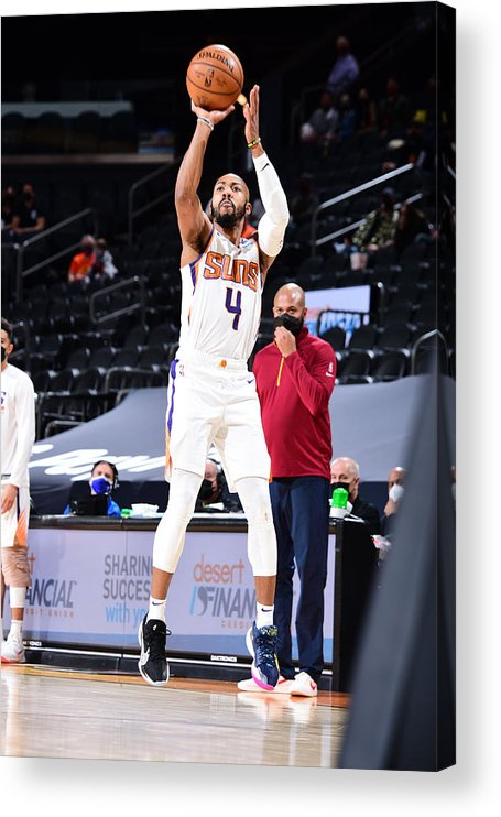 Nba Pro Basketball Acrylic Print featuring the photograph Cleveland Cavaliers v Phoenix Suns by Michael Gonzales