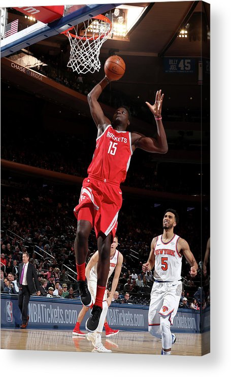 Nba Pro Basketball Acrylic Print featuring the photograph Clint Capela by Nathaniel S. Butler