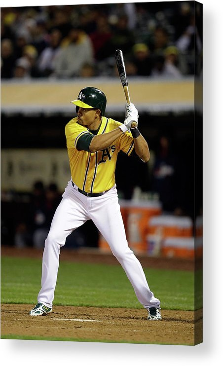 American League Baseball Acrylic Print featuring the photograph Coco Crisp by Ezra Shaw