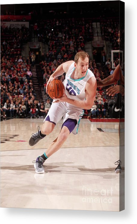 Nba Pro Basketball Acrylic Print featuring the photograph Cody Zeller by Cameron Browne
