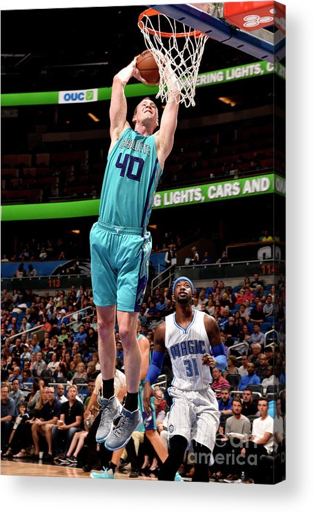 Nba Pro Basketball Acrylic Print featuring the photograph Cody Zeller by Gary Bassing