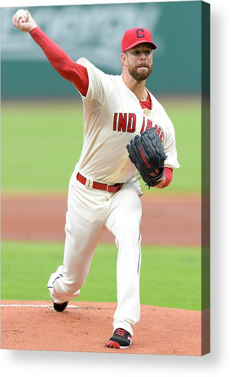 American League Baseball Acrylic Print featuring the photograph Corey Kluber by Jason Miller
