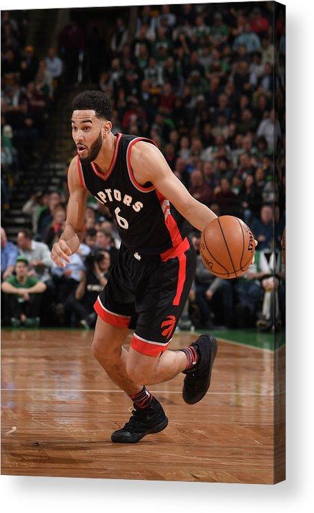 Nba Pro Basketball Acrylic Print featuring the photograph Cory Joseph by Brian Babineau