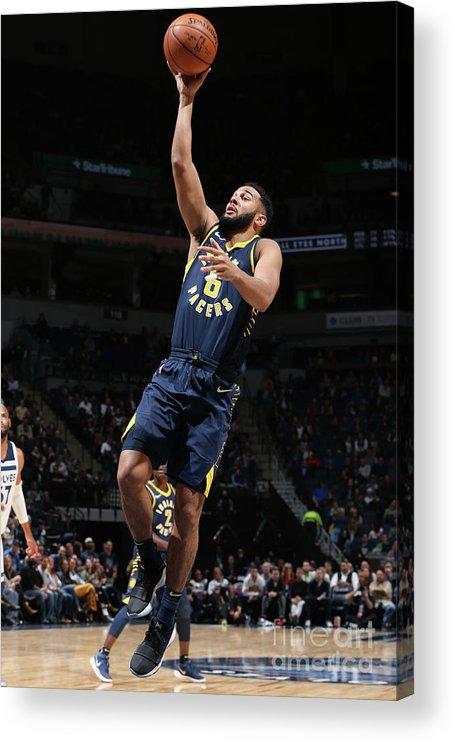 Nba Pro Basketball Acrylic Print featuring the photograph Cory Joseph by David Sherman