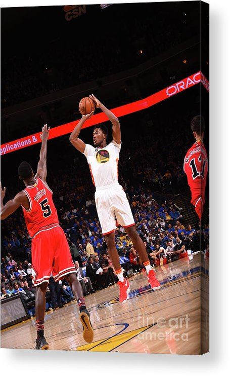 Nba Pro Basketball Acrylic Print featuring the photograph Damian Jones by Noah Graham