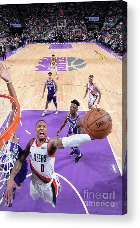 Nba Pro Basketball Acrylic Print featuring the photograph Damian Lillard by Rocky Widner