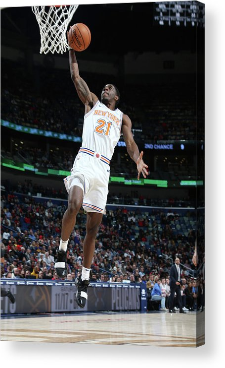 Smoothie King Center Acrylic Print featuring the photograph Damyean Dotson by Layne Murdoch Jr.