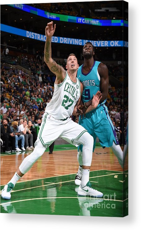 Nba Pro Basketball Acrylic Print featuring the photograph Daniel Theis and Mangok Mathiang by Brian Babineau
