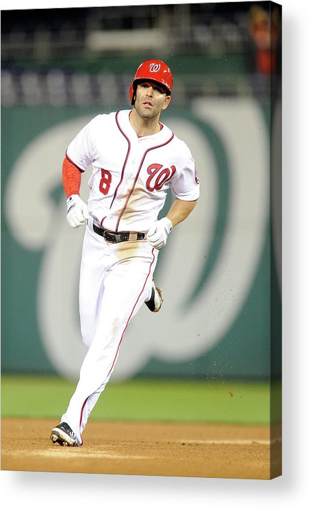 American League Baseball Acrylic Print featuring the photograph Danny Espinosa by Greg Fiume
