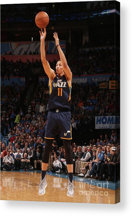 Nba Pro Basketball Acrylic Print featuring the photograph Dante Exum by Layne Murdoch