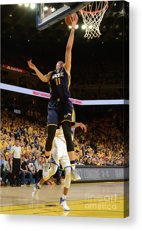 Playoffs Acrylic Print featuring the photograph Dante Exum by Noah Graham