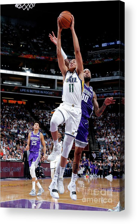 Nba Pro Basketball Acrylic Print featuring the photograph Dante Exum by Rocky Widner
