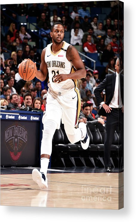 Smoothie King Center Acrylic Print featuring the photograph Darius Miller by Bill Baptist
