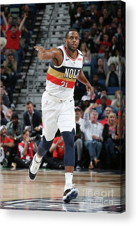Smoothie King Center Acrylic Print featuring the photograph Darius Miller by Layne Murdoch Jr.