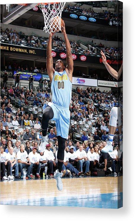 Nba Pro Basketball Acrylic Print featuring the photograph Darrell Arthur by Danny Bollinger
