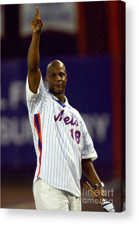 People Acrylic Print featuring the photograph Darryl Strawberry by Chris Trotman