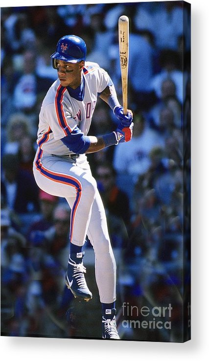 1980-1989 Acrylic Print featuring the photograph Darryl Strawberry by Ronald C. Modra