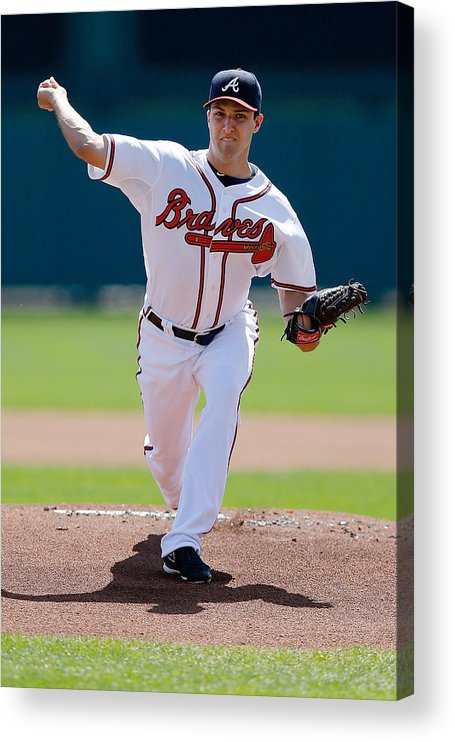 American League Baseball Acrylic Print featuring the photograph David Hale by Stacy Revere