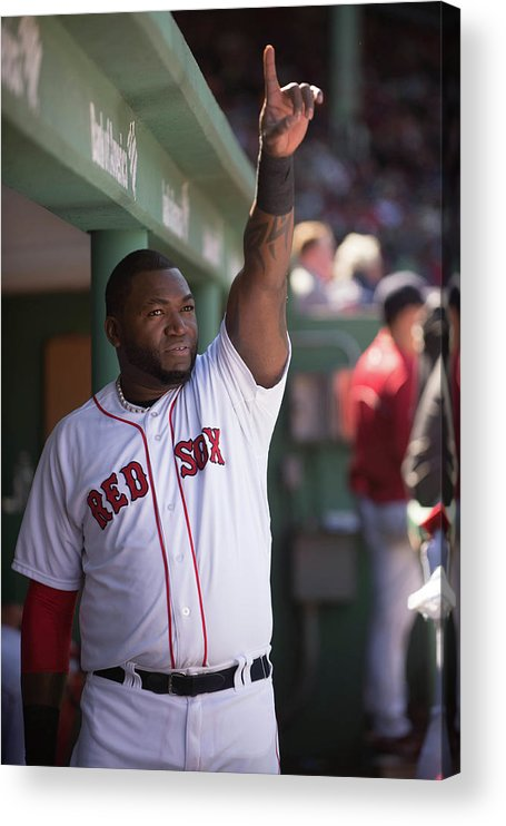 East Acrylic Print featuring the photograph David Ortiz by Rob Tringali