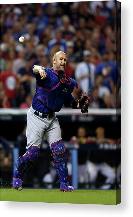 Playoffs Acrylic Print featuring the photograph David Ross by Brad Mangin