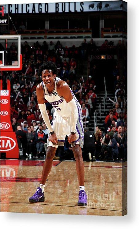 Nba Pro Basketball Acrylic Print featuring the photograph De'aaron Fox by Jeff Haynes