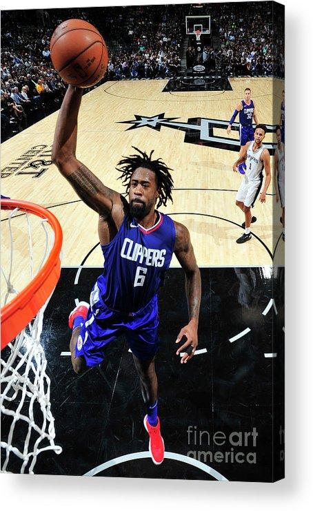 Nba Pro Basketball Acrylic Print featuring the photograph Deandre Jordan by Mark Sobhani