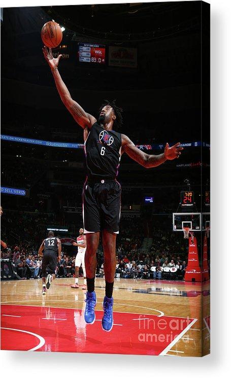 Nba Pro Basketball Acrylic Print featuring the photograph Deandre Jordan by Ned Dishman