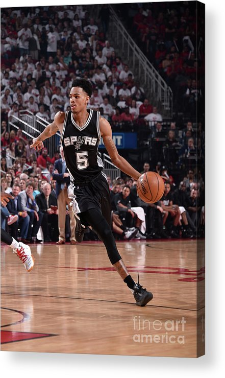 Playoffs Acrylic Print featuring the photograph Dejounte Murray by Bill Baptist