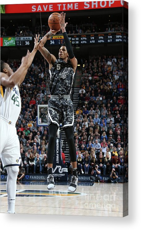 Nba Pro Basketball Acrylic Print featuring the photograph Dejounte Murray by Melissa Majchrzak