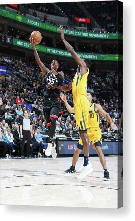 Nba Pro Basketball Acrylic Print featuring the photograph Delon Wright by Melissa Majchrzak