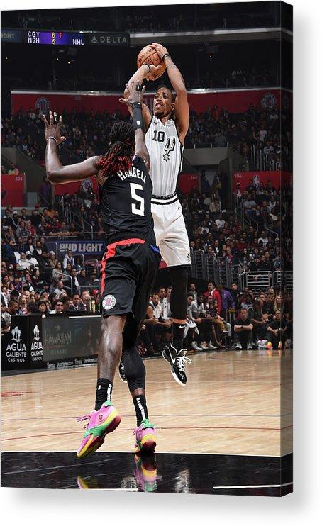 Nba Pro Basketball Acrylic Print featuring the photograph Demar Derozan by Adam Pantozzi