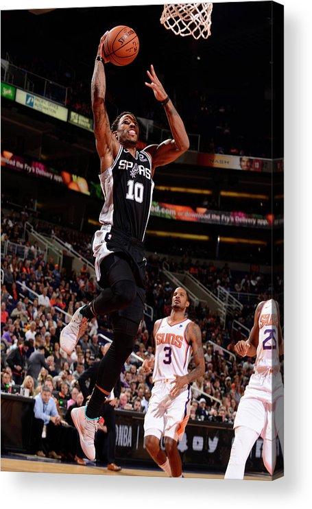 Nba Pro Basketball Acrylic Print featuring the photograph Demar Derozan by Barry Gossage