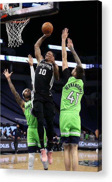Nba Pro Basketball Acrylic Print featuring the photograph Demar Derozan by Jordan Johnson