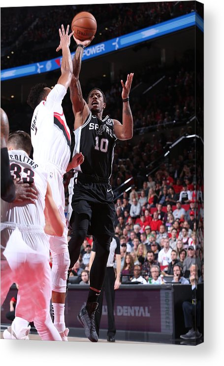 Nba Pro Basketball Acrylic Print featuring the photograph Demar Derozan by Sam Forencich