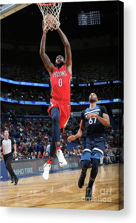 Smoothie King Center Acrylic Print featuring the photograph Demarcus Cousins and Taj Gibson by Layne Murdoch Jr.