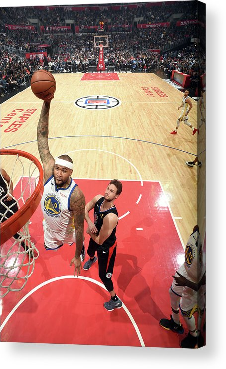 Nba Pro Basketball Acrylic Print featuring the photograph Demarcus Cousins by Andrew D. Bernstein