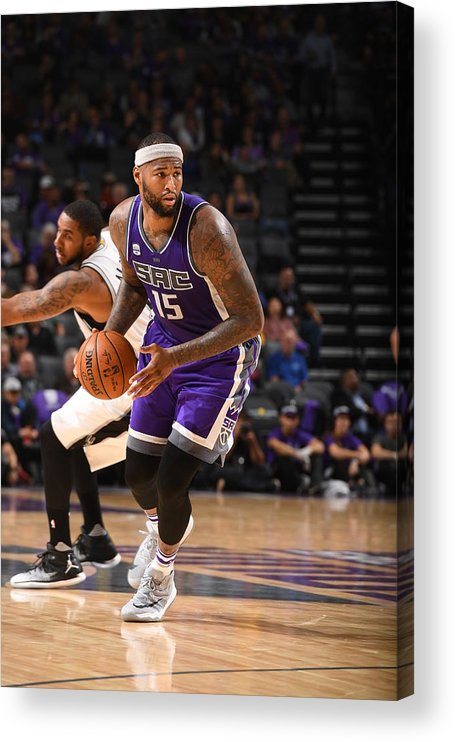 Nba Pro Basketball Acrylic Print featuring the photograph Demarcus Cousins by Garrett Ellwood