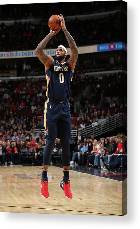 Nba Pro Basketball Acrylic Print featuring the photograph Demarcus Cousins by Gary Dineen