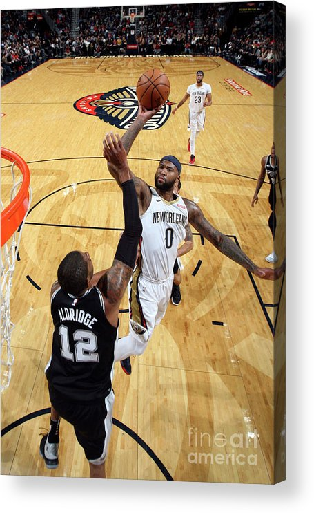 Smoothie King Center Acrylic Print featuring the photograph Demarcus Cousins by Layne Murdoch Jr.