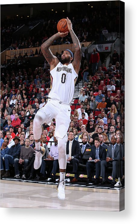 Nba Pro Basketball Acrylic Print featuring the photograph Demarcus Cousins by Sam Forencich