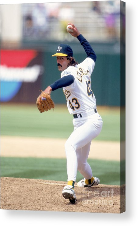 1980-1989 Acrylic Print featuring the photograph Dennis Eckersley by Jeff Carlick