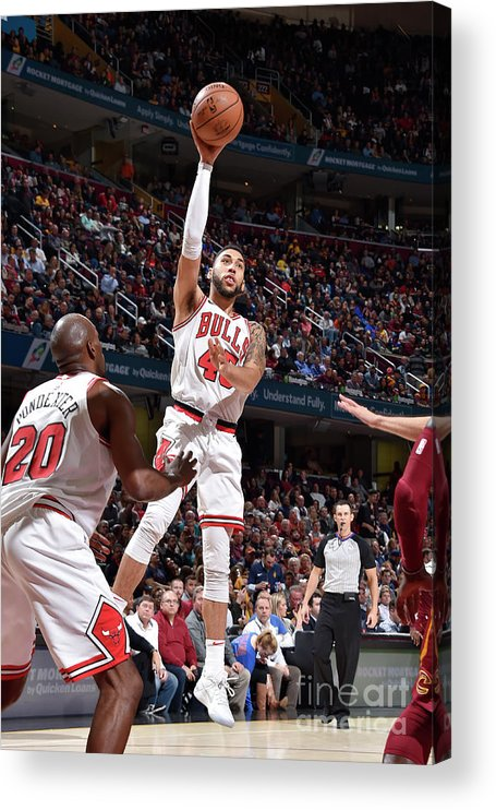 Nba Pro Basketball Acrylic Print featuring the photograph Denzel Valentine by David Liam Kyle
