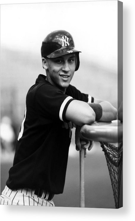 People Acrylic Print featuring the photograph Derek Jeter by B Bennett