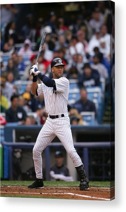 People Acrylic Print featuring the photograph Derek Jeter by Chris Mcgrath