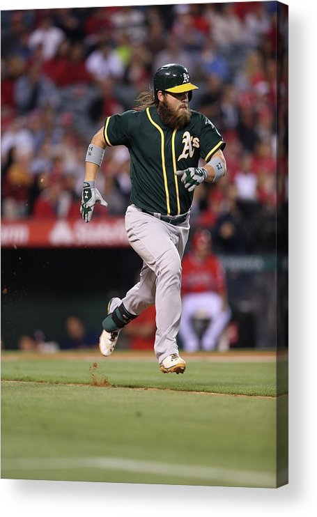 American League Baseball Acrylic Print featuring the photograph Derek Norris by Paul Spinelli
