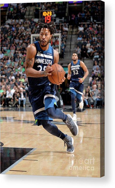 Nba Pro Basketball Acrylic Print featuring the photograph Derrick Rose by Mark Sobhani