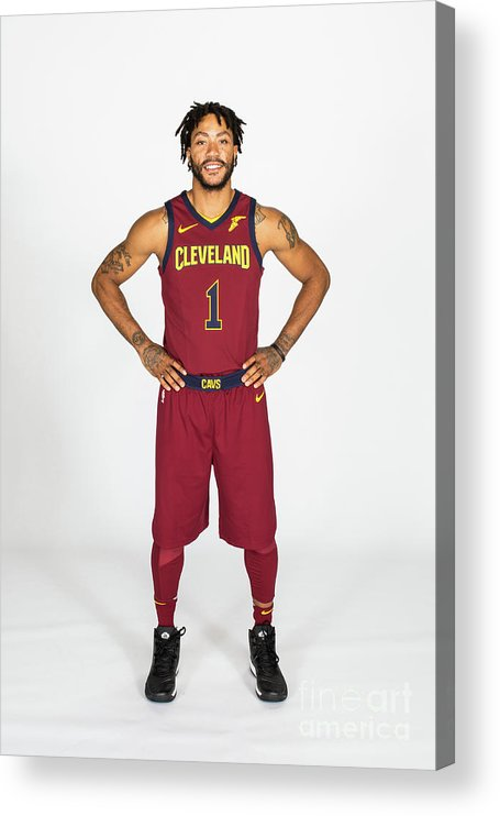 Media Day Acrylic Print featuring the photograph Derrick Rose by Michael J. Lebrecht Ii