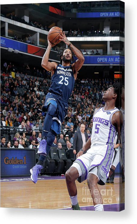 Nba Pro Basketball Acrylic Print featuring the photograph Derrick Rose by Rocky Widner