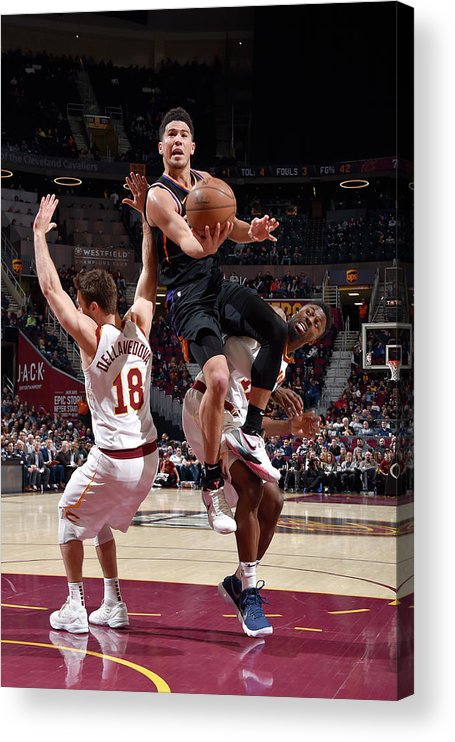 Nba Pro Basketball Acrylic Print featuring the photograph Devin Booker by David Liam Kyle