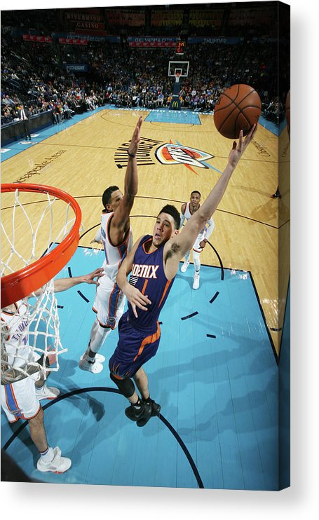 Nba Pro Basketball Acrylic Print featuring the photograph Devin Booker by Layne Murdoch